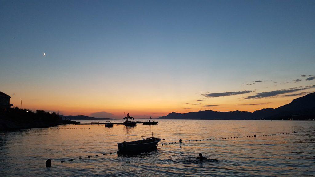 Solnedgång i kroatien