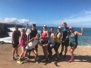 Gruppbild från träningsresa till Fuerteventura